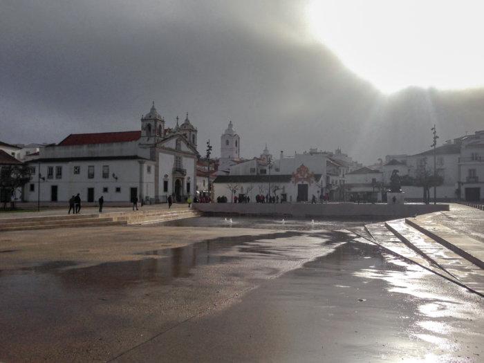 Ville de Lagos au Portugal l'hiver