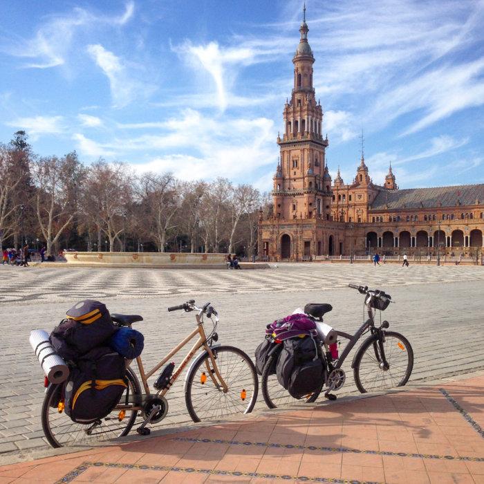 Voyage à vélo à Séville en Espagne