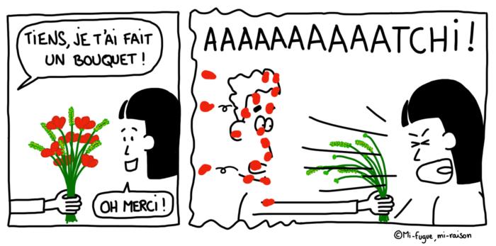 Dessin : rhume des foins