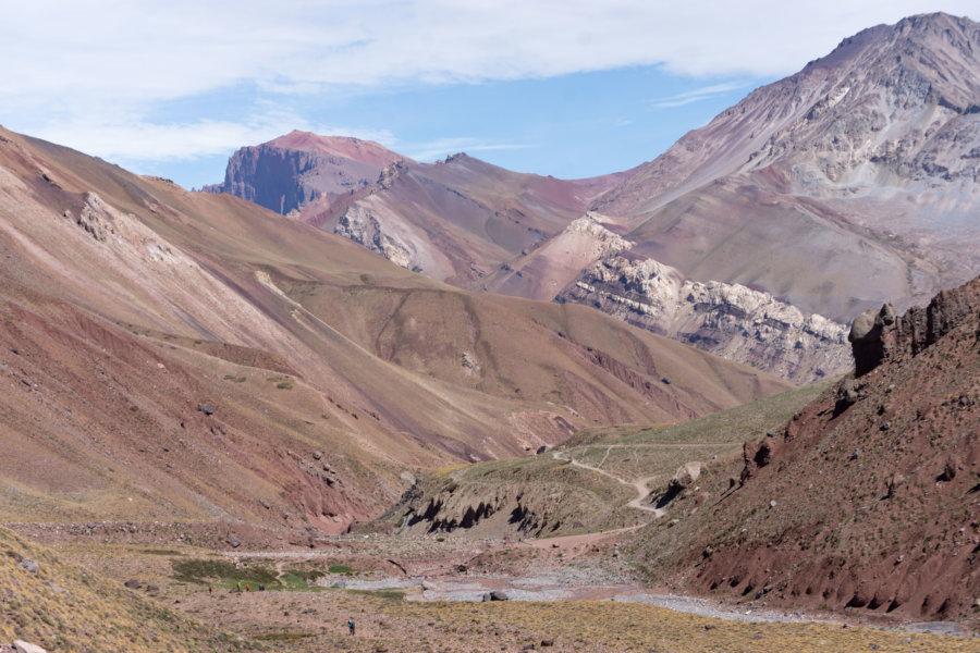 Le Cerro Aconcagua dans les andes argentines
