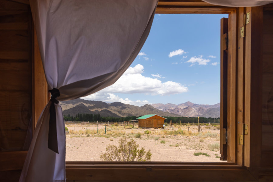 Cabane dans les Andes à Uspallata, Argentine
