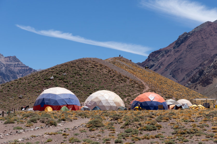 Camp de base pour l'ascension de l'Aconcagua