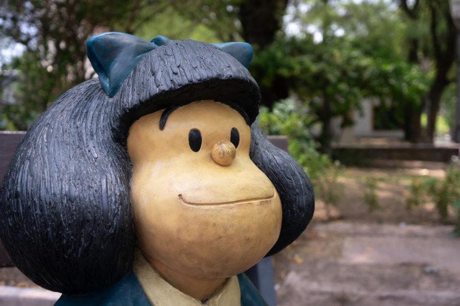 Statue de Mafalda à Mendoza