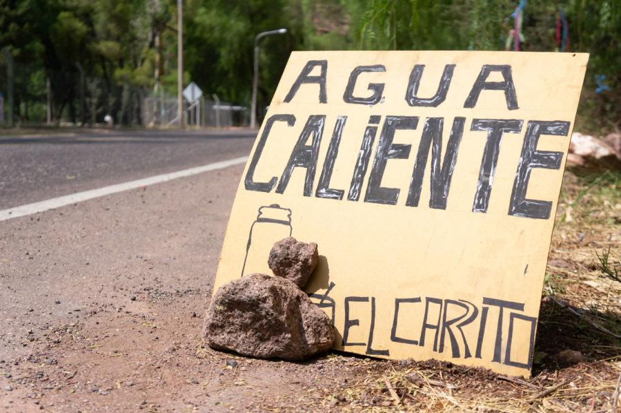 Panneau au chaude maté en Argentine