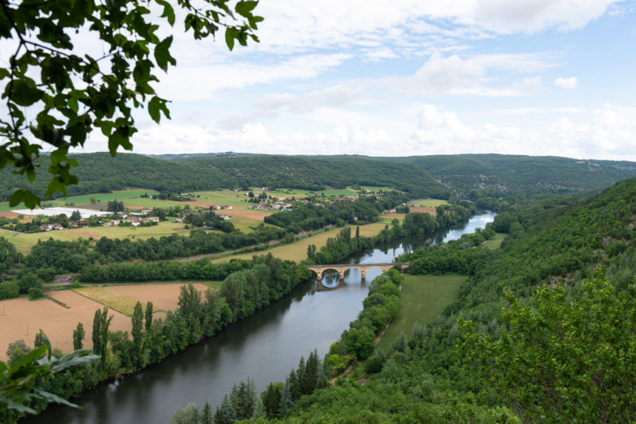 Panorama sur le Lot, Bouziès