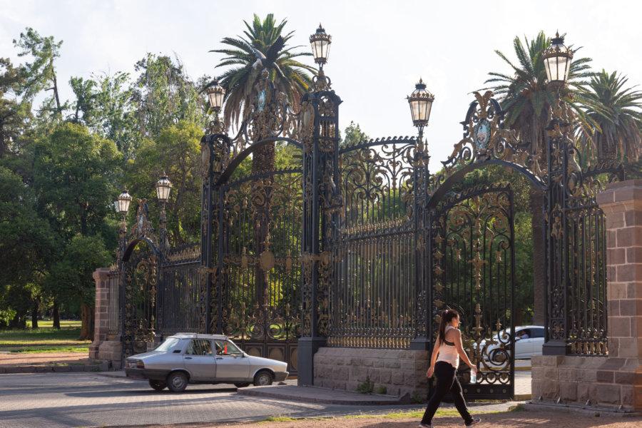 Entrée du Parc San Martin à Mendoza