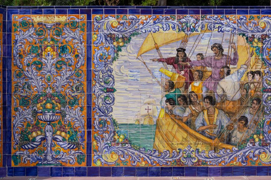 Mosaïque place d'Espagne à Mendoza
