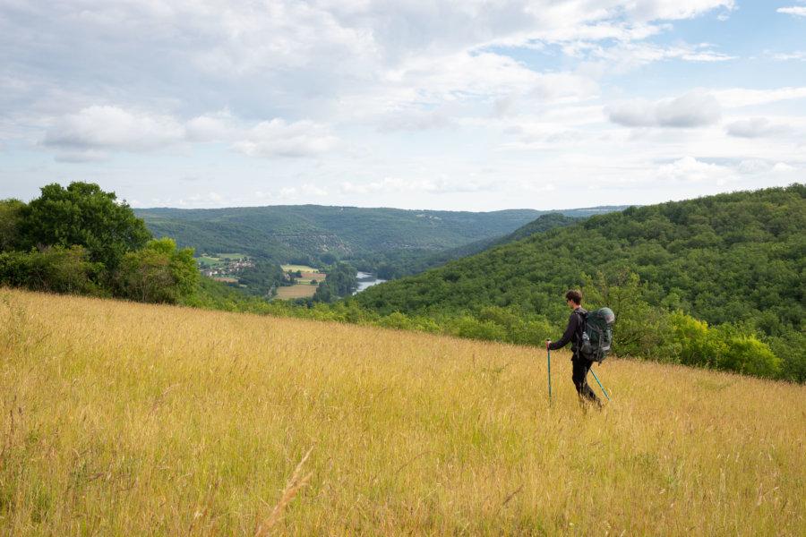 Randonnée dans les Causses du Quercy de Cahors à Saint-Cirq-Lapopie
