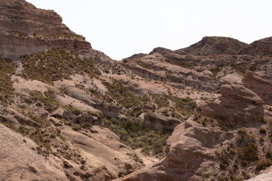 Rochers dans le canyon de l'Atuel à San Rafael