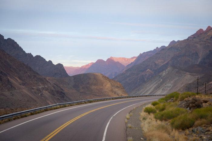 Coucher de soleils sur les Andes en Argentine