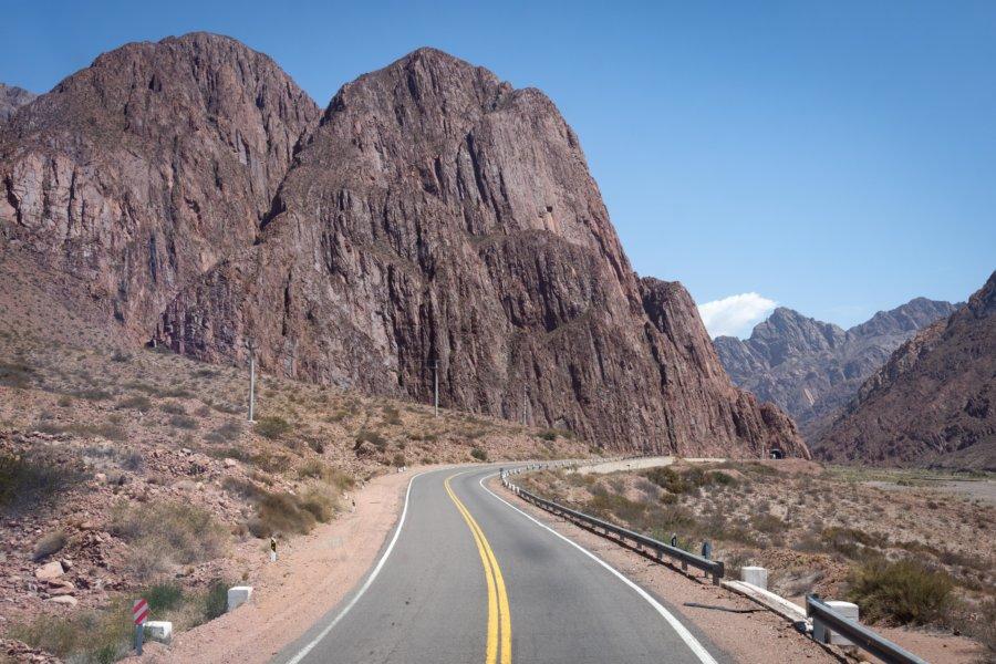 Route entre Mendoza et Uspallata