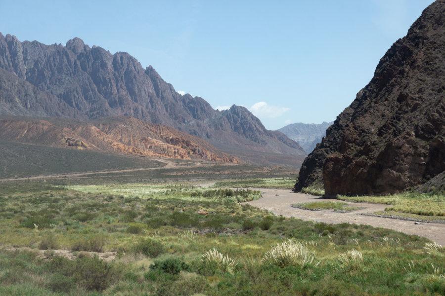 Paysages dans la région de Mendoza, Argentine
