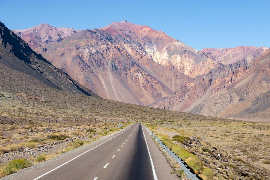 Route entre Uspallata et l'Aconcagua