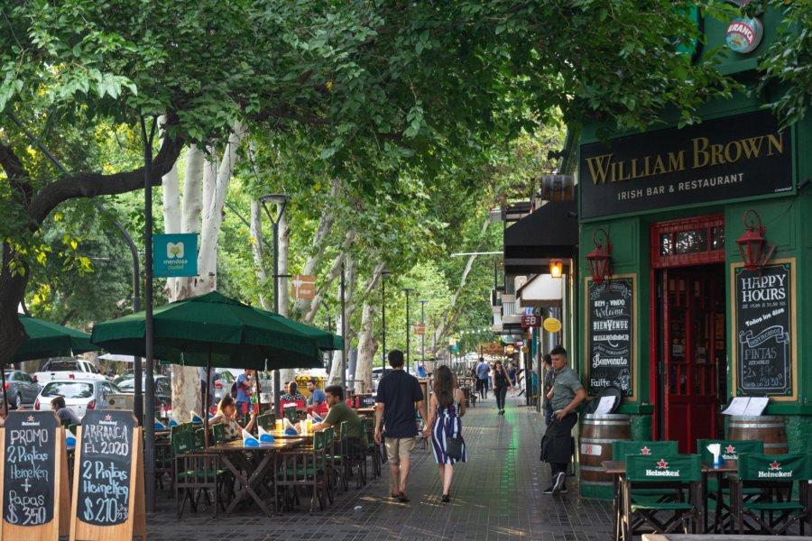 Rue Aristides Villanueva à Mendoza