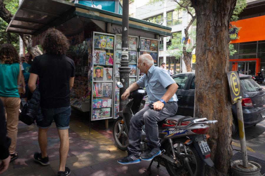 Rue de Mendoza en Argentine