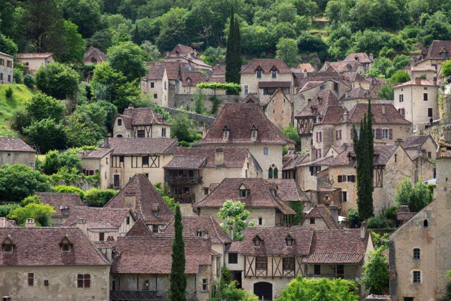 Maisons de Saint-Cirq-Lapopie dans le Lot