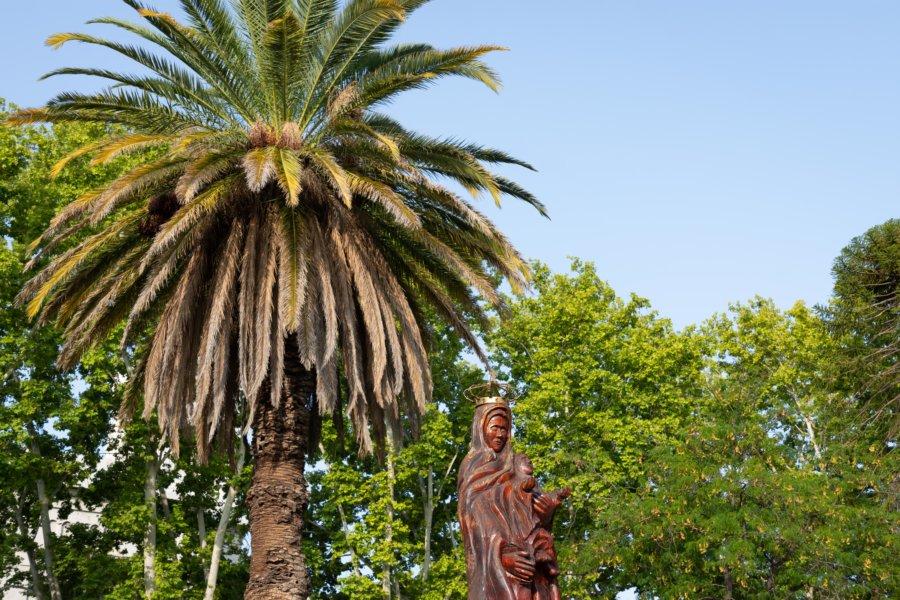 Statue en bois à San Rafael
