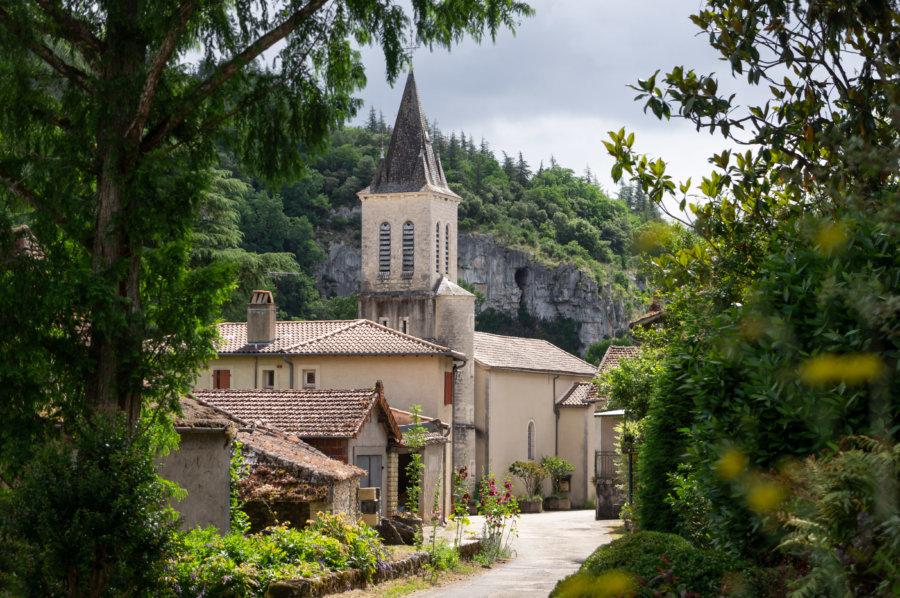 Village de Bouziès dans le Lot