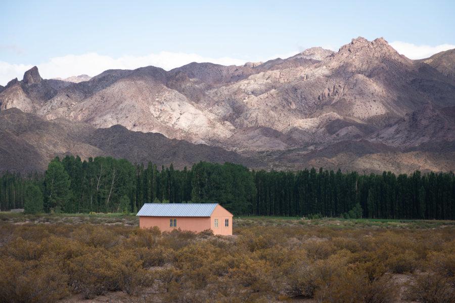 Village d'Uspallata dans la montagne argentine