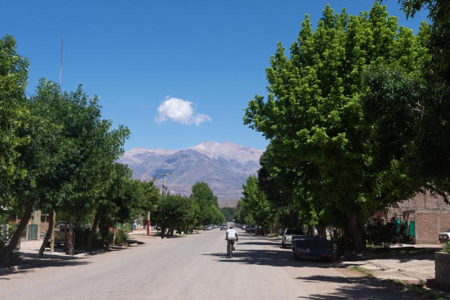 Ville d'Uspallata en Argentine