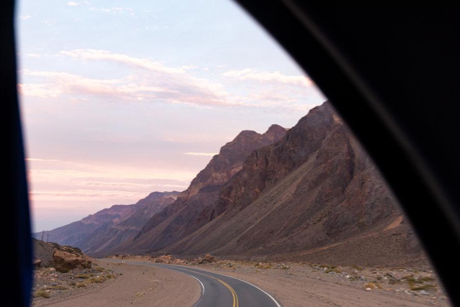 Vue sur la montagne depuis le bus argentin