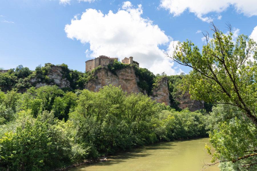 Bruniquel, village perché au-dessus de l'Aveyron
