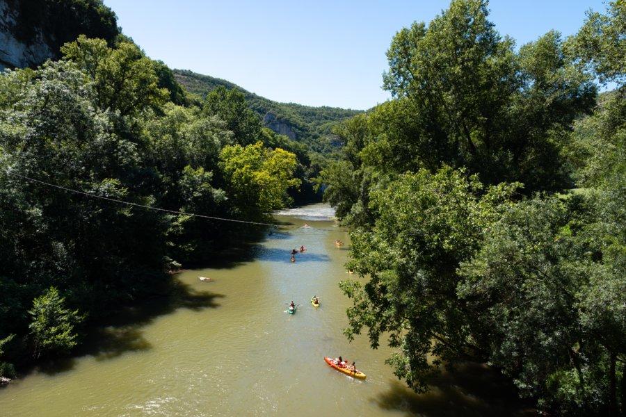 Canoë et kayak sur l'Aveyron à Saint-Antonin-Noble-Val
