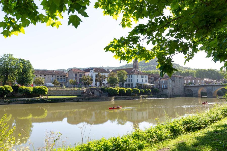 Canoë sur l'Aveyron à Saint-Antonin-Noble-Val