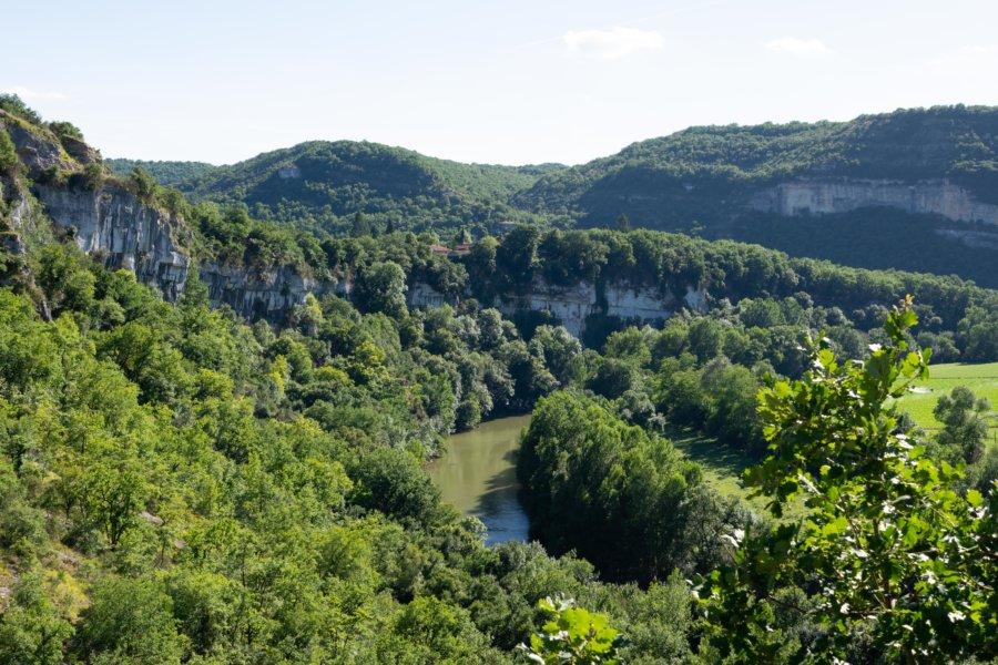 Les Gorges de l'Aveyron depuis Penne