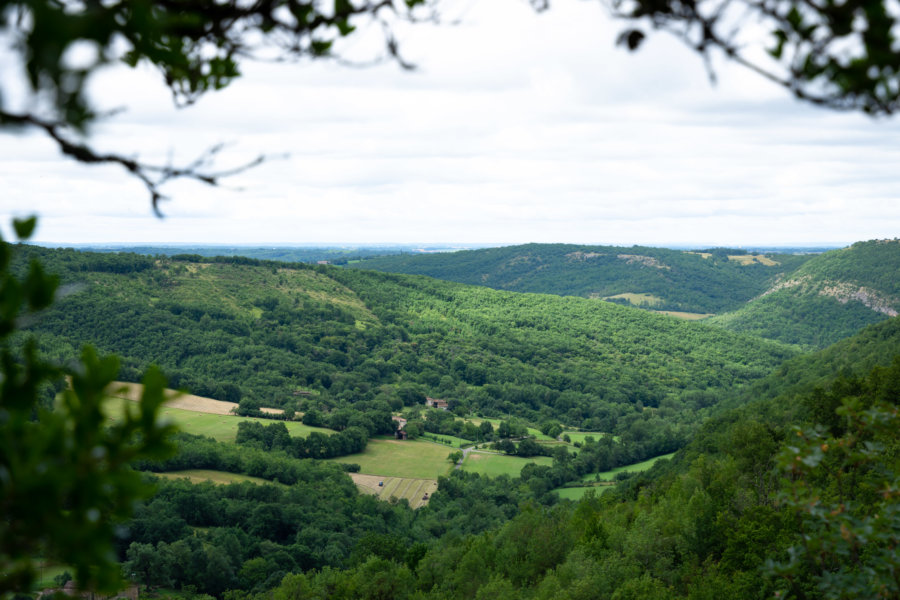 Paysage entre Penne et Bruniquel