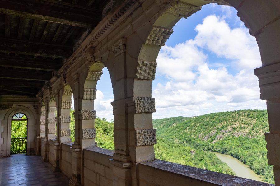 Point de vue sur l'Aveyron depuis le château de Bruniquel