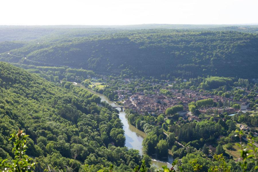 Saint-Antonin-Noble-Val depuis le Roc d'Anglars