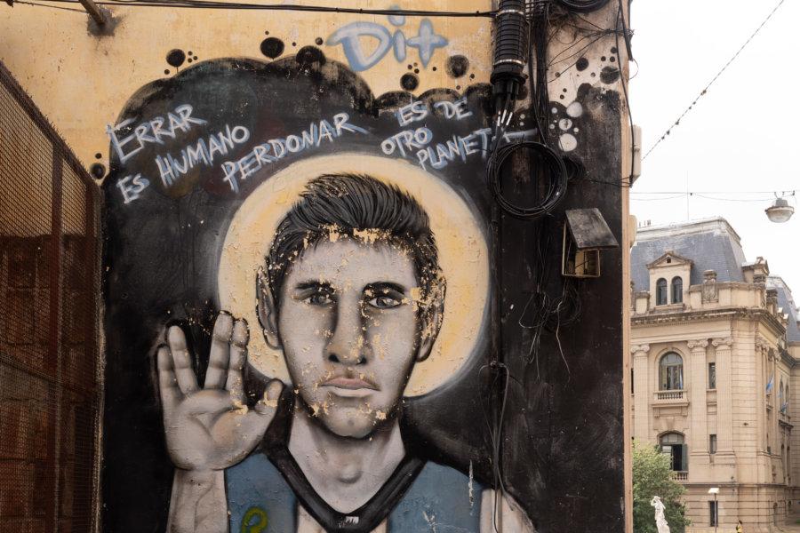 Lionel Messi sur les murs de Rosario