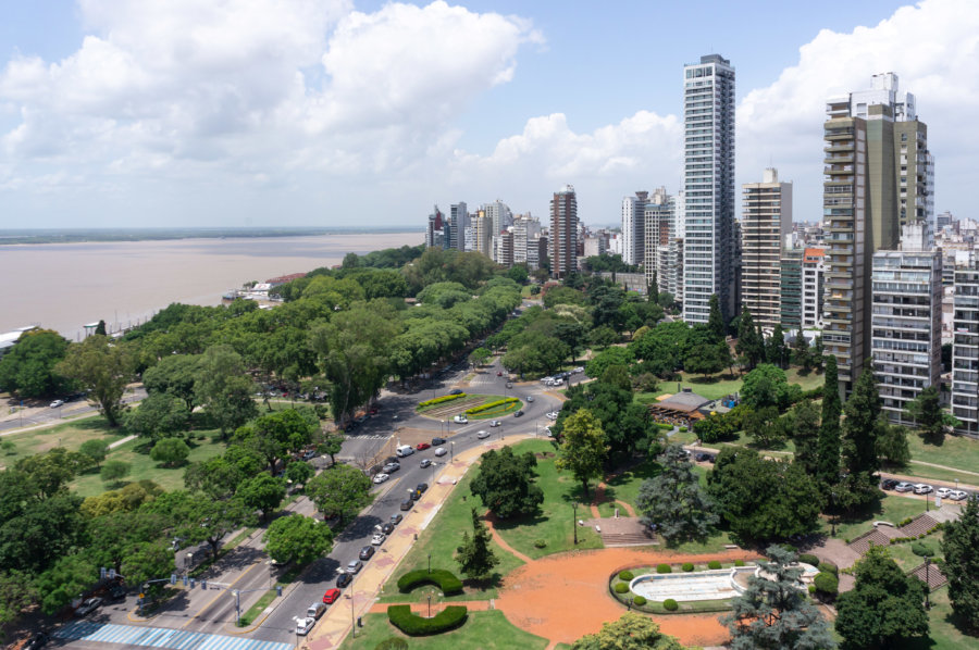 Vue panoramique sur Rosario en Argentine