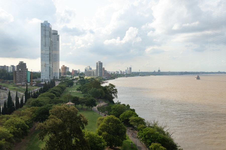 Vue sur Rosario et le Paraná depuis le musée Macro