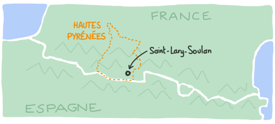 Carte Saint-Lary-Soulan Hautes Pyrenees