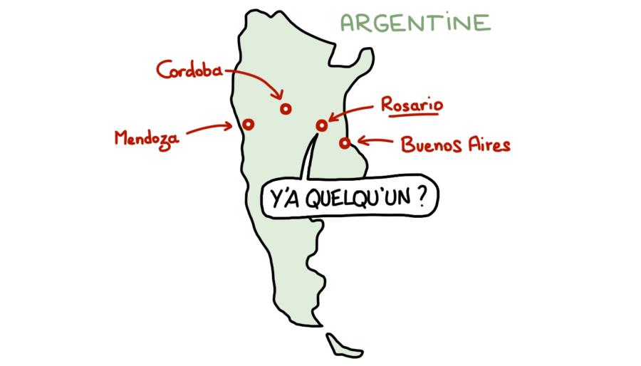 Carte d'Argentine, Rosario Cordoba
