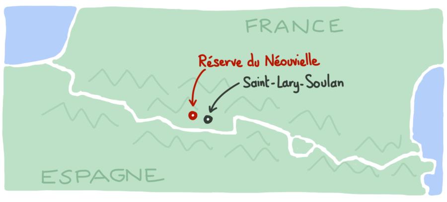 Carte reserve du Neouvielle Pyrenees