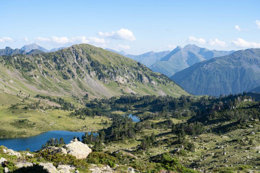 Lacs de la réserve du Néouvielle dans les Pyrénées