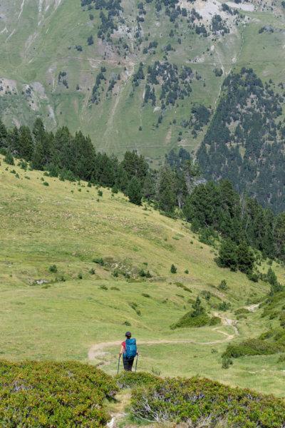 Randonnée dans les Pyrénées l'été