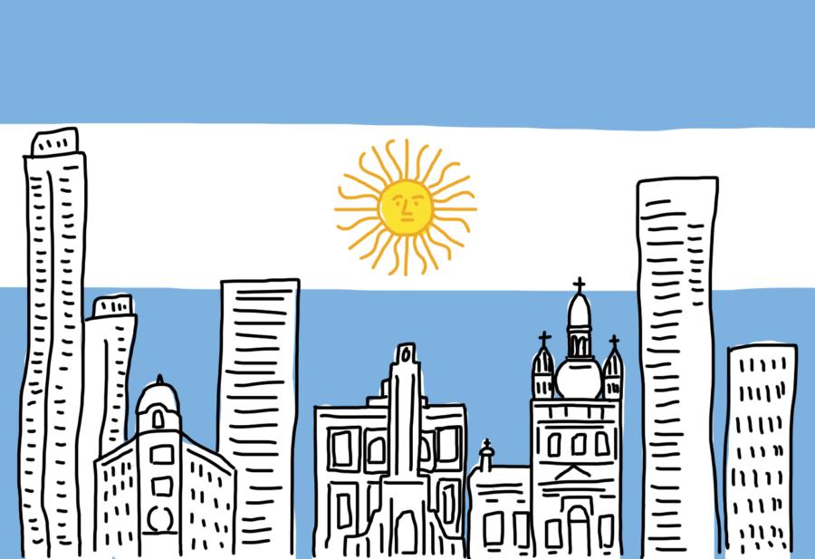 Dessin : le ciel Argentin ressemble à son drapeau