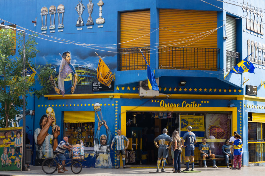 Boutique de foot à La Boca, Argentine