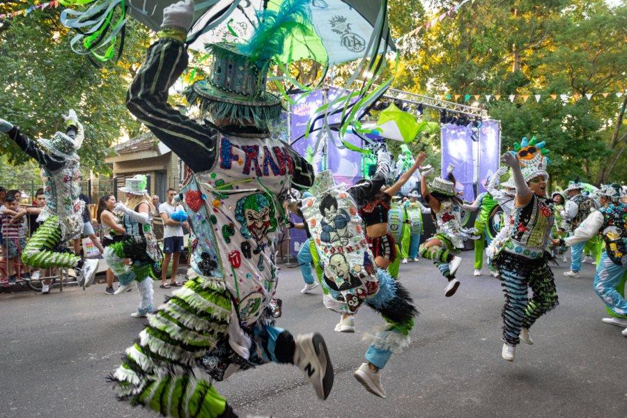 Danseurs pour les murgas de Buenos Aires