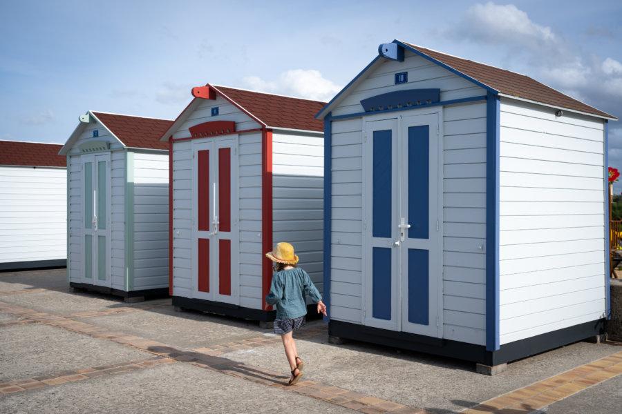 Cabines de plage à Hautot-sur-Mer