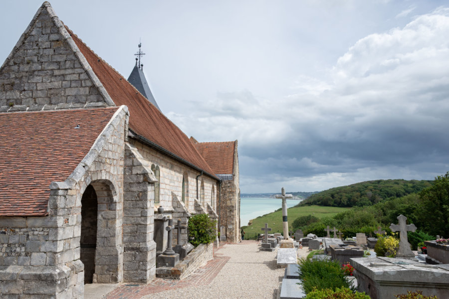 Cimetière marin et église de Varengeville-sur-Mer