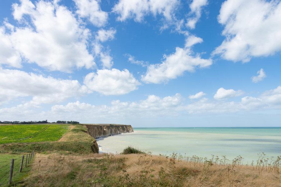 Sentier de randonnée GR21 en Normandie, côte d'albâtre