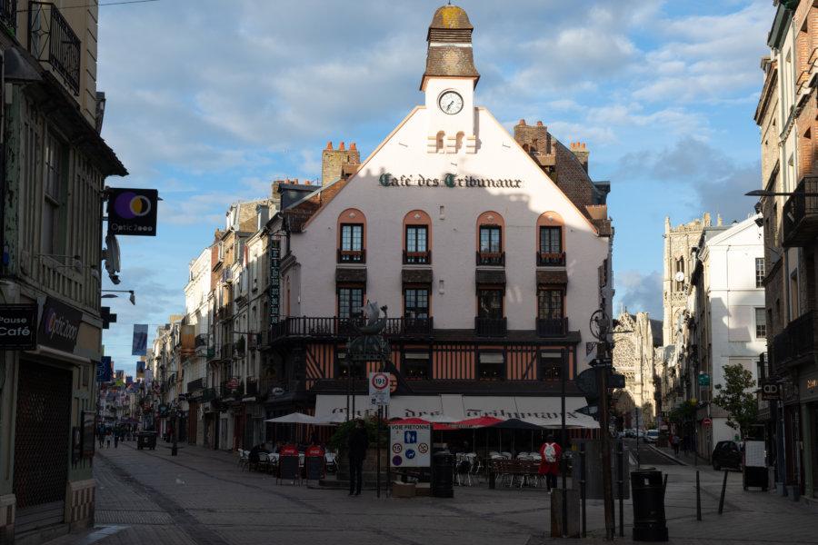 Rues piétonnes dans le centre-ville de Dieppe