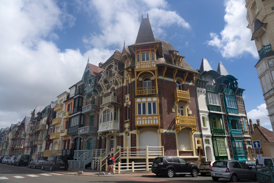 Villas colorées de Mers-les-Bains