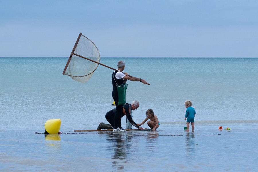 Pêche en famille à Veulettes-sur-Mer