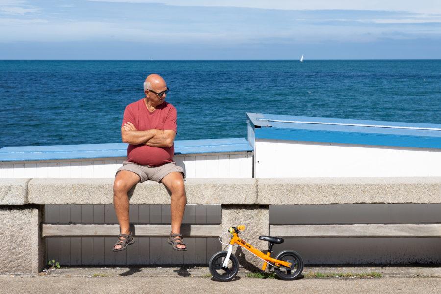 Petit vélo, Fécamp l'été